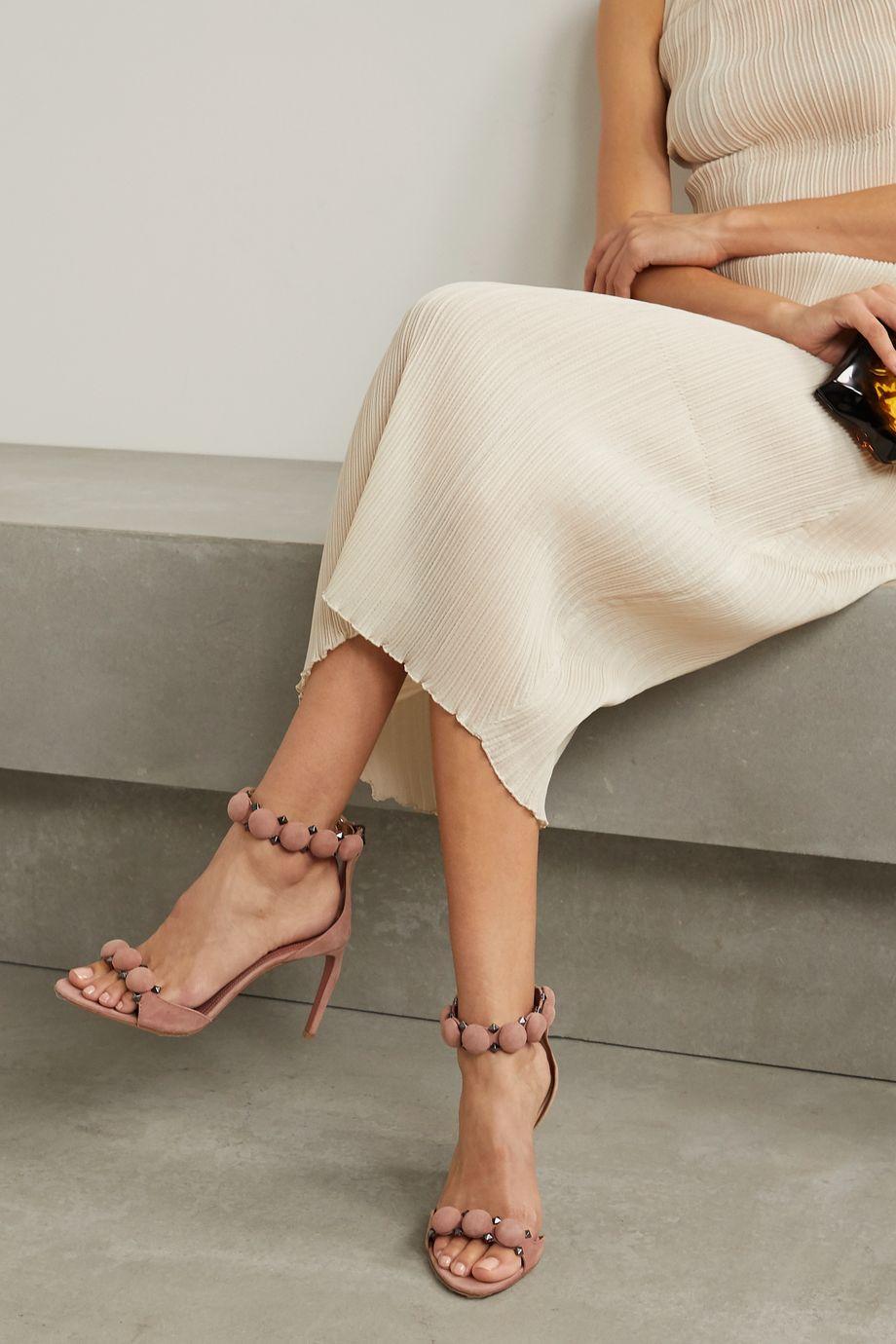 Alaïa Bombe 90 studded suede sandals