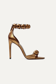 Alaïa Bombe 110 studded metallic leather sandals