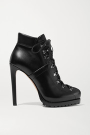 Alaïa 135 leather ankle boots