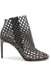 Alaïa Studded laser-cut leather ankle boots