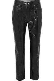 Laker crinkled-leather straight-leg pants