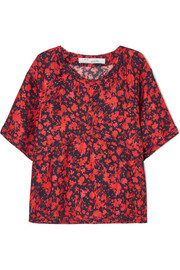 Magical floral-print satin top