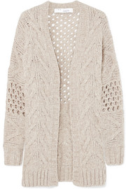 IRO Air cable-knit wool-blend cardigan