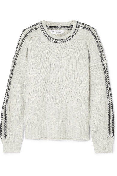 ee7906b9e3ed1 IRO BEEB LAYERED CHUNKY-KNIT SWEATER