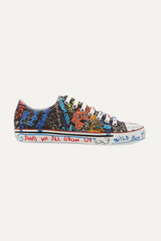 Vetements Printed canvas sneakers