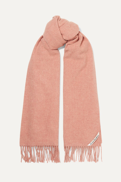Canada Fringed Mélange Wool Scarf by Acne Studios