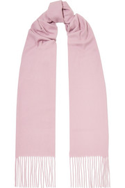 아크네 스튜디오 캐나다 스키니 프린지 울 스카프 라일락 Acne Studios Canada Skinny fringed wool scarf