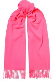 아크네 스튜디오 캐나다 프린지 울 스카프 핑크 Acne Studios Canada fringed wool scarf