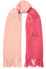 Kelow two-tone embroidered felt scarf