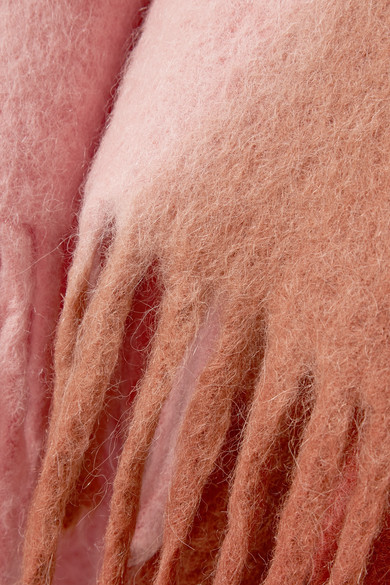 Acne Studios Accessories Kelow ombré fringed felt poncho