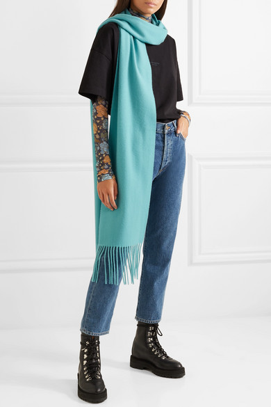Acne Studios Accessories Canada Skinny fringed wool scarf
