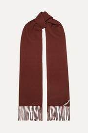 아크네 스튜디오 캐나다 스키니 프린지 울 스카프 브릭 Acne Studios Canada Skinny fringed wool scarf
