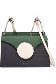 Danse Lente Phoebe mini color-block textured-leather shoulder bag