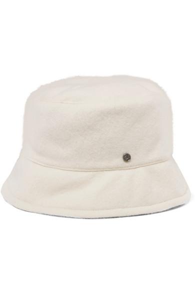 Maison Michel - Axel Reversible Cashmere Hat - Charcoal
