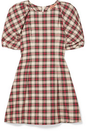 Maggie Marilyn Fashionably Early plaid cotton mini dress