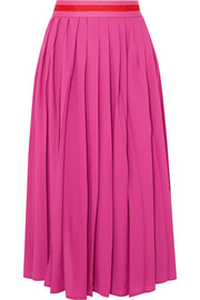 Maggie Marilyn Boring People Get Bored pleated chiffon midi skirt