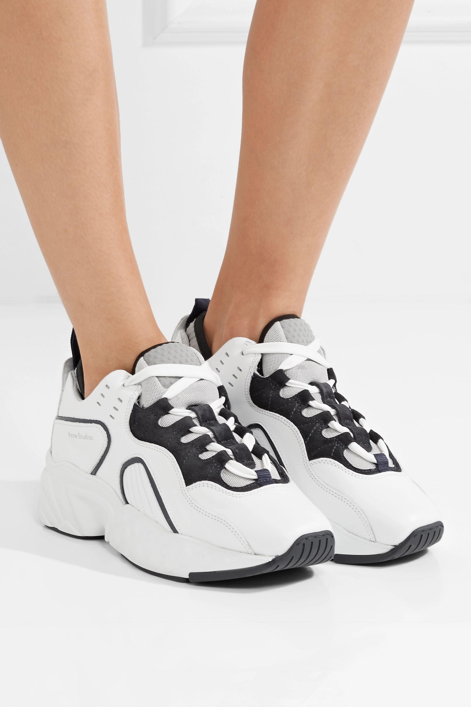 Acne Studios Manhattan Sneakers aus Leder, Veloursleder und Mesh