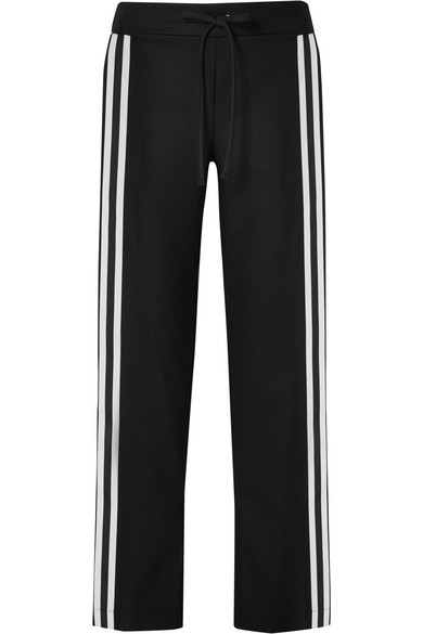 Maggie Marilyn MAKE YOUR MOVE GROSGRAIN-TRIMMED ORGANIC WOOL TRACK PANTS