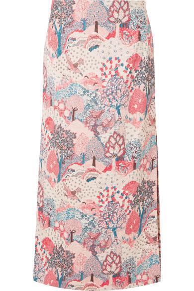 Vilshenko - Chrissi Quilted Jacquard Midi Skirt - Pink