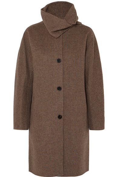 John Checked Wool And Cashmere Blend Coat by Vanessa Bruno