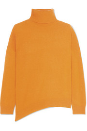 Jamaica asymmetric wool and cashmere-blend turtleneck sweater
