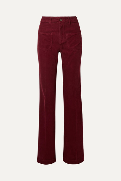 VANESSA BRUNO Dompay cotton-blend corduroy flared pants