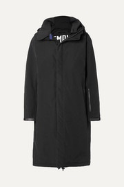 3L Coaches hooded cotton-blend shell coat