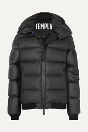 Membra hooded quilted shell down jacket