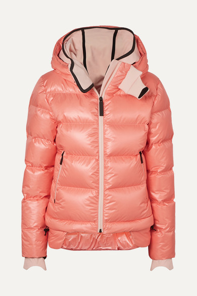 TEMPLA | TEMPLA - 10k Nano Hooded Quilted Down Jacket - Baby pink | Goxip
