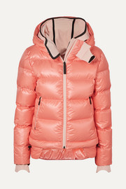 10k Nano hooded quilted down jacket
