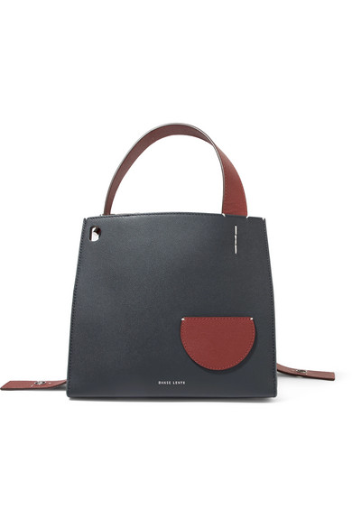 DANSE LENTE MARGOT TWO-TONE TEXTURED-LEATHER TOTE