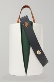Lorna mini paneled leather bucket bag