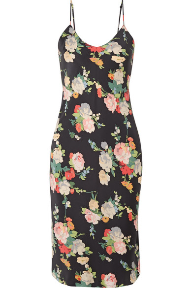 5bc483edfcc0 Nili Lotan | Floral-print silk-satin dress | NET-A-PORTER.COM