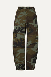 Emerson camouflage-print stretch-cotton wide-leg pants