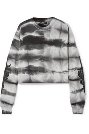 AMIRI Embellished tie-dyed cotton-jersey sweatshirt