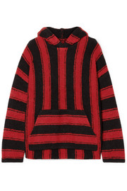 AMIRI Baja oversized hooded striped wool-blend sweater