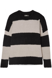 AMIRI Oversized striped wool-blend sweater