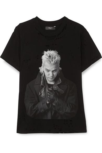 A Distressed Shirt Lost Jersey Amiri T Cotton Boys Printed Net pCzxT4Uqw
