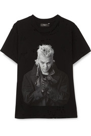 AMIRI Lost Boys distressed printed cotton-jersey T-shirt