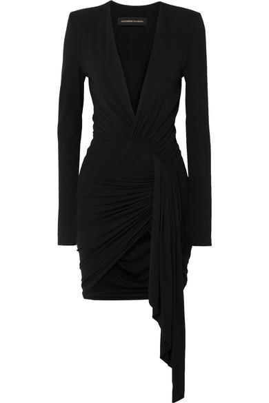 new photos biggest discount good quality Asymmetric stretch-jersey mini dress