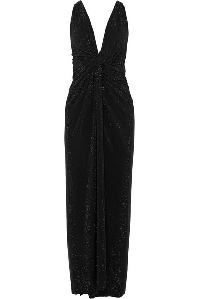 Alexandre Vauthier - Twisted Crystal-embellished Crepe Gown - Black