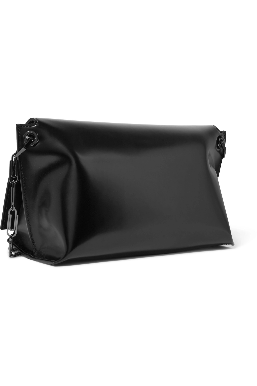Off-White Glossed-leather shoulder bag