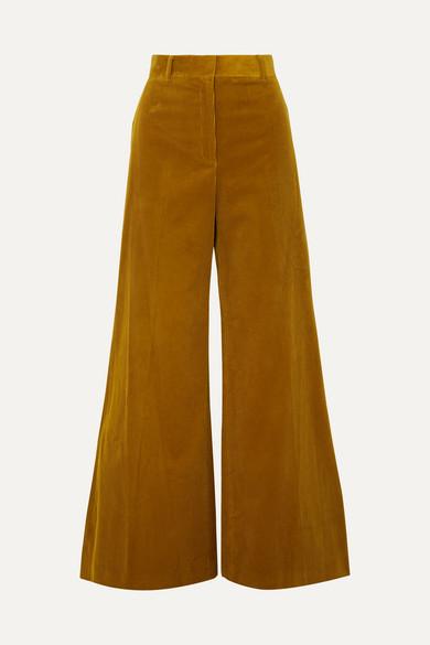 BELLA FREUD BIANCA COTTON-CORDUROY WIDE-LEG PANTS