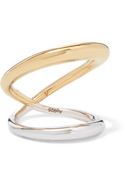 Surma gold vermeil and silver ring
