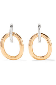Charlotte Chesnais Inner Naho gold vermeil and silver earrings