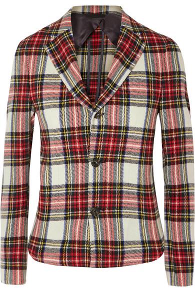 R13 - Tartan Wool-blend Blazer - Red