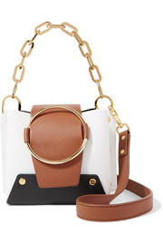 Delila mini color-block textured-leather shoulder bag