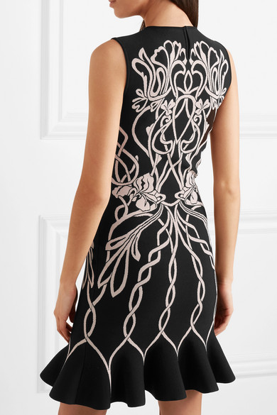 Alexander Mcqueen Dress Jacquard-knit mini dress