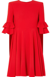 Alexander McQueen Ruffle-trimmed crepe mini dress