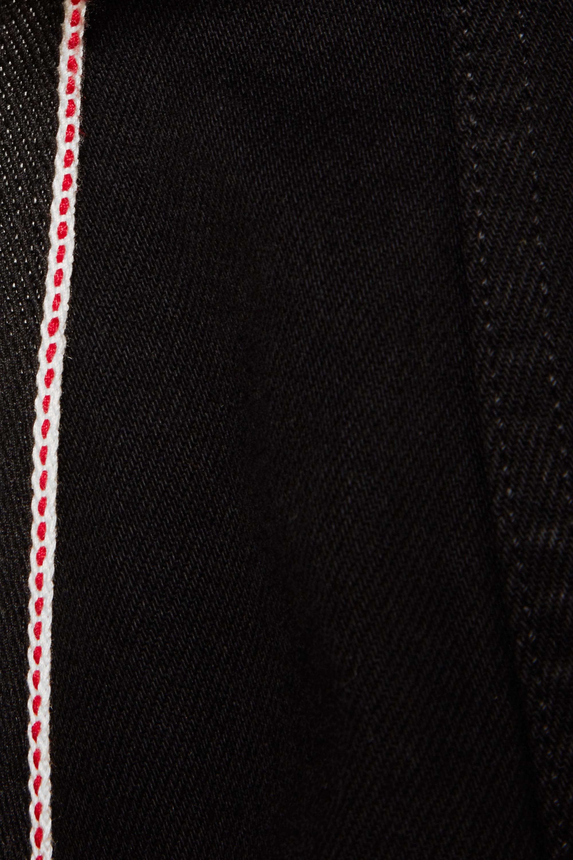 Alexander McQueen Mehrlagige Jeansjacke mit Ripsbandbesatz